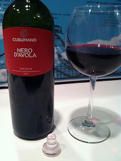 Cusumano Nero d'Avola 2010//Very inexpensive wine that tastes good w/or w/o food. Easy drinking wine L.C.