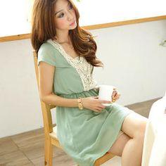 Beaded Crochet-Front Tea Dress
