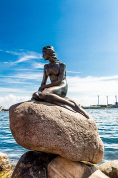 The Little Mermaid on the shores of Copenhagen. #Copenhagen #Denmark #Travel