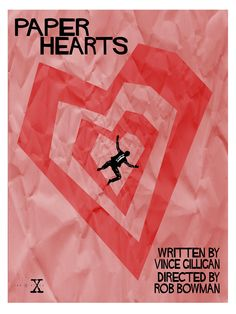 Paper Hearts - Episode 83. This image is in the style of artist Saul Bass, based on his poster for Vertigo. I like the imagery of Mulder falling into the killer's web of lies, represented by the hearts he cut from the nightgowns of his young victims to keep as trophies.