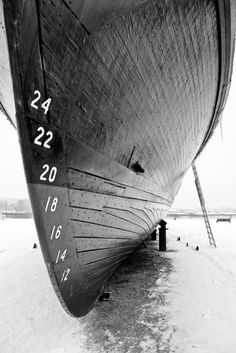 Wooden hull; photographer unknown