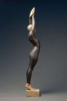 """The Triathlete, 36"""" Resin and Lead by Deon Duncan"""