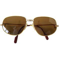 1303c82c79df Cartier Vintage Santos Sunglasses Rare Style with Red Case Cartier  Sunglasses