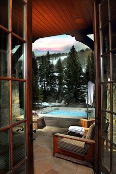 Apres time!  Soak just steps from the #Vail lifts.