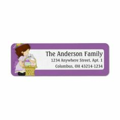 Annabella's Easter Basket d1 Return Address Labels