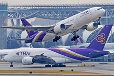 """Terrifying turbulence sent one plane passenger """"flying into the air"""" and hospitalized six people, as shocking pictures emerge revealing blood-splattered seats and people's belongi… First Plane, Thai Airways, Aircraft, Blood, People, Travel, Aviation, Viajes, Folk"""
