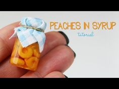 polymer clay Peaches In Syrup TUTORIAL | polymer clay food - YouTube
