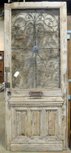 I think I might be in love with this and it would make a stunning home office entry or swing hinged kitchen/dining door! Vintage Doors, Antique Doors, Old Doors, Architectural Antiques, Architectural Elements, Salvaged Decor, Texas, Medieval, Shabby Chic Homes