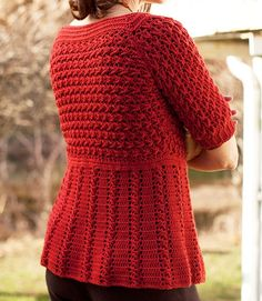 Crochet Cardigan Azilal - Berroco� Free Pattern - written with diagrams for stitchpatterns.