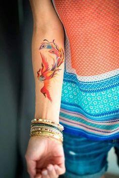 #tatuaje #color #ave
