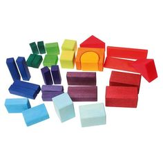 Grimms Colored Geo Blocks (30) $40.00