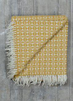 Lifestyle New Wool Blanket in English Mustard Cobweave