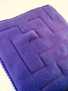 Rectangle Marble Maze in Purple  self by thecrazyelephant on Etsy