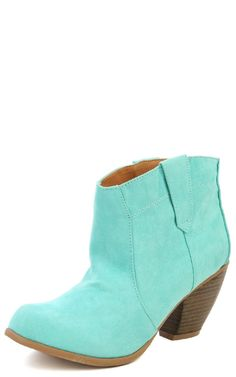 Chunky Heel Cowboy Ankle Boots available at Makemechic.com