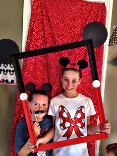 Mickey & Minnie Mouse Birthday Party Decor Giant Photo Frame