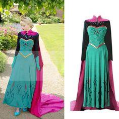 Halloween Cosplay Women Adult Princess Anna Costume Stage Xmas Party Fancy Dress #Unbranded #PrincessannaCosplaycostume