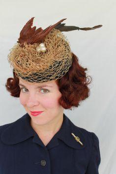 In-Stock: 1930s/1940s Style Faux Bird Tilt Hat with Nest & Eggs by JillianOriginals on Etsy https://www.etsy.com/listing/153536388/in-stock-1930s1940s-style-faux-bird-tilt