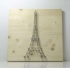 Eiffel Tower Picture - This Eiffel Tower picture is made of thin nails and string. South Korean blogger Design Recipe was inspired to illustrate the Parisian tower due to...