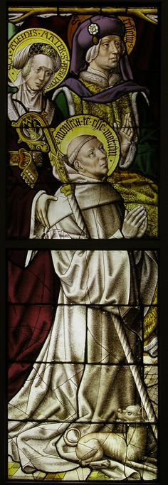 Stained Glass Panel with St. Bernard.  Date:     ca. 1500. Culture:     South Netherlandish.