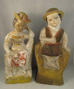 19th century chalkware couple