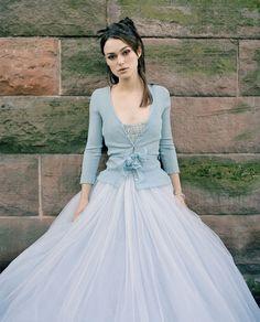 """something blue"" wedding dress"