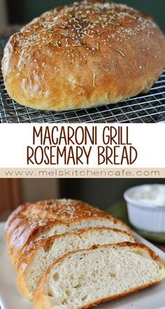 This delicious Macaroni Grill Rosemary Bread is not complicated in the least and is free-formed, eliminating the need for bread pans. Never been to Macaroni Grill but this bread was awesome! Sliced some into squares and used it for hamburgers. Bread Machine Recipes, Bread Recipes, Cooking Recipes, Rosemary Bread Machine Recipe, Copycat Recipes, Pan Bread, Bread Baking, Macaroni Grill Bread, Macaroni Grill Rosemary Bread Recipe