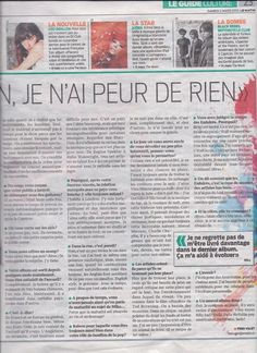 """""""En Chanson Je N'ai Peur De Rien"""" interview with Mika - unknown Swiss newspaper - French - 02/03/2013 - page 2 of 2"""