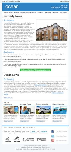 Email template designed and built for Ocean Estates.  Visit Pure360.com for more information.