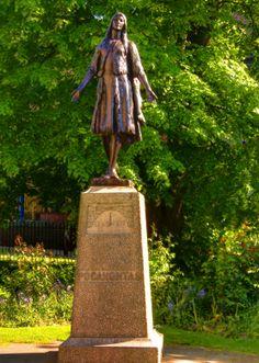 Grave of Pocahontas at St George Churchyard, Gravesend, Kent, England