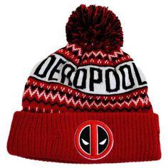 New Era Marvel Comics Deadpool Winter Knit Beanie Hat Animation    Superheroes 844d7988131