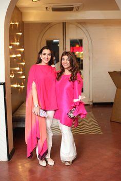 Samah Mudasar and Amna Adeel Monnoo Pakistani Dress Design, Pakistani Dresses, Indian Dresses, Indian Outfits, Stylish Dresses, Simple Dresses, Casual Dresses, Fashion Dresses, Stylish Tops