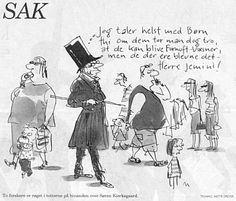 Jeg taler helst med Børn... Tegning af Mette Dreyer, Politiken 30. juli 2004
