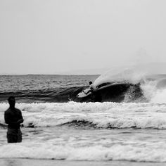 Front row seat to the Dane Reynolds' show in Byron Bay.   Photo: Morgan Maassen