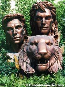 The statue of Siegfried and Roy