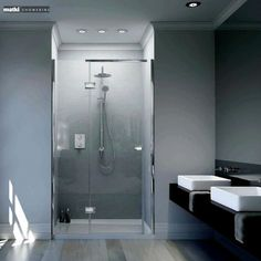 gb1 Matki New Illusion Recess Shower Enclosure with Integrated Tray