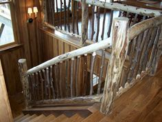 Locust railing with rhododendron interior