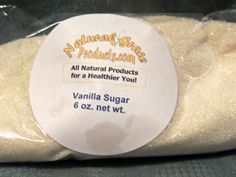 Natural Grace Vanilla Sugar ~ All Natural 8 Oz. Bag