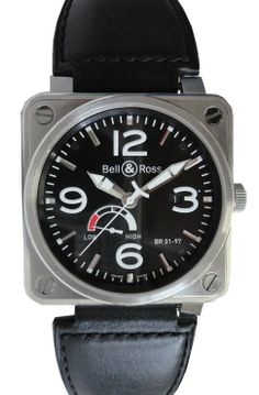 Satin-brushed steel case, Bell & Ross power reserve mechanical automatic movement BR01-97.  http://www.liveauctioneers.com/item/25627268_bell-and-ross-br01-97-power-reserve-automatic-watch