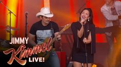 """Brad Paisley Ft. Demi Lovato Performs """"Without a Fight"""""""