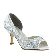 655b62f16 Benjamin Walk Greta 4009 Shoe - Add some sparkle to your special day with  these dyeable crystal encrusted peep-toe shoes. The shoe features both  crystal and ...