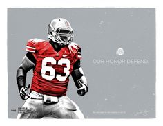 Ohio State Football Recruitment Fliers by Michael Bower, via Behance