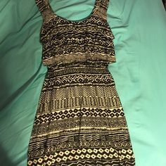 Tribal Print sundress Super cute tribal print sundress! Never worn. Hate to see it sit in my closet when it could be worn! Xhilaration Dresses Mini