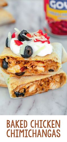 Looking for a quick weeknight meal that's delicious and healthy? These Baked Chicken Chimichangas are easy to make and healthier than most Mexican food. Quick Chicken Curry, Healthy Baked Chicken, Best Chicken Recipes, Good Food, Yummy Food, Fun Food, Easy Healthy Recipes, Healthy Dinners, Healthy Eats