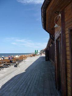 Majówka w Łebie 2013. Bar na plaży. Łeba Poland (Polska