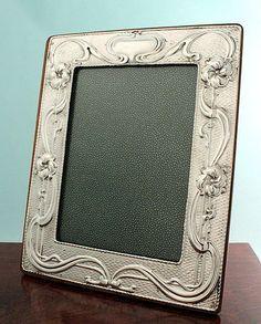 Large Art Nouveau Silver Frame