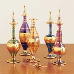 Egyptian Perfume Bottles - ELLE DECOR