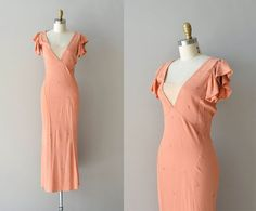 Savile Club dress  silk crepe 1930s dress  vintage by DearGolden, $244.00