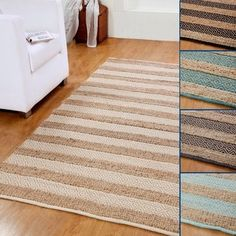 Shop for Hand-woven Natural Jute and Cotton Artisan Rug (5' x 8'). Get free shipping at Overstock.com - Your Online Home Decor Outlet Store! Get 5% in rewards with Club O!