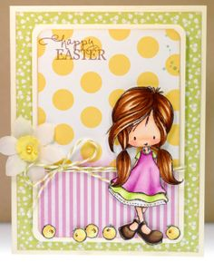 Happy Easter - Two Peas in a Bucket Tiddly Inks, Ink Stamps, Copics, Copic Markers, Flower Boxes, Happy Easter, I Card, Cardmaking, Birthday Cards