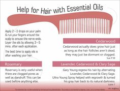 Essential oils are good for the hair also!
